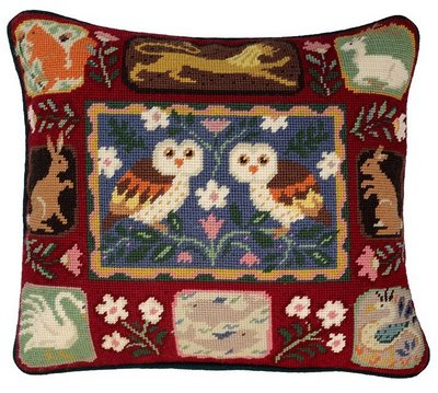 Arts and Crafts Owls tapestry
