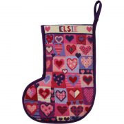 Christmas Love Hearts Stocking