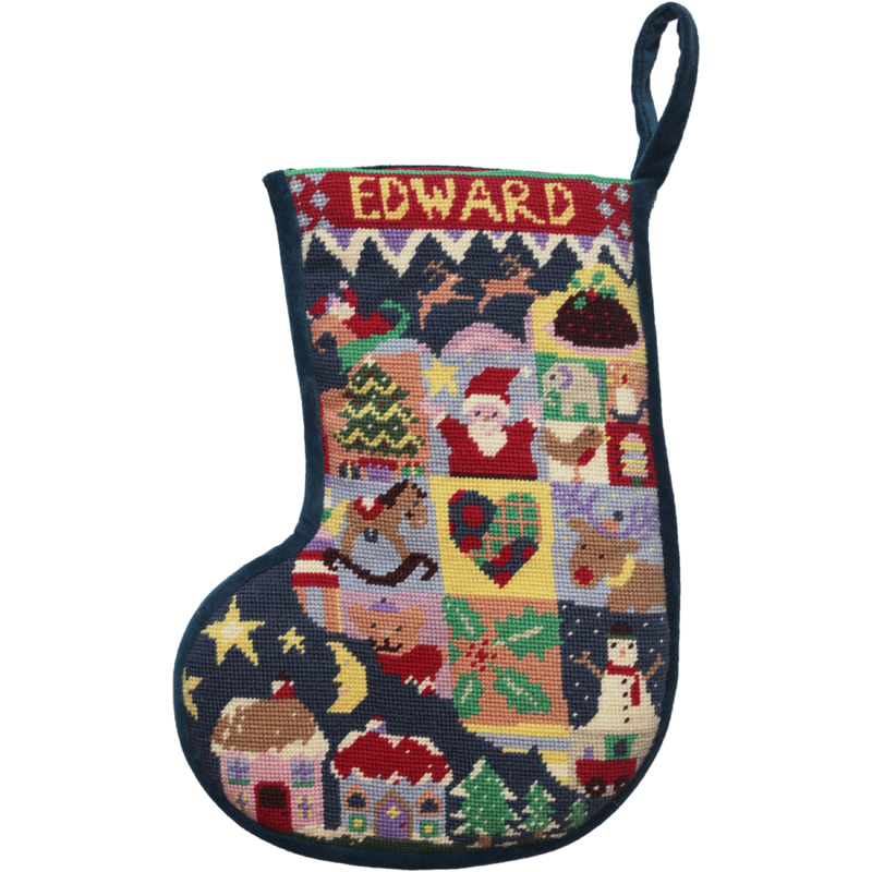 Christmas Stockings Kits.Smaller Size Jolly Red