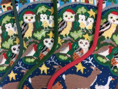 Fabric for your Owls Christmas stocking