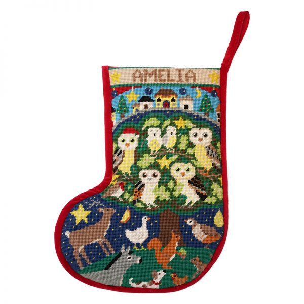 Woodland Owls Stocking 800x800