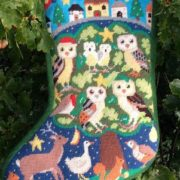 Owls Christmas stocking