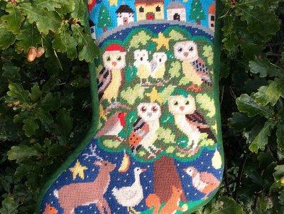 New! Owls Christmas Stocking