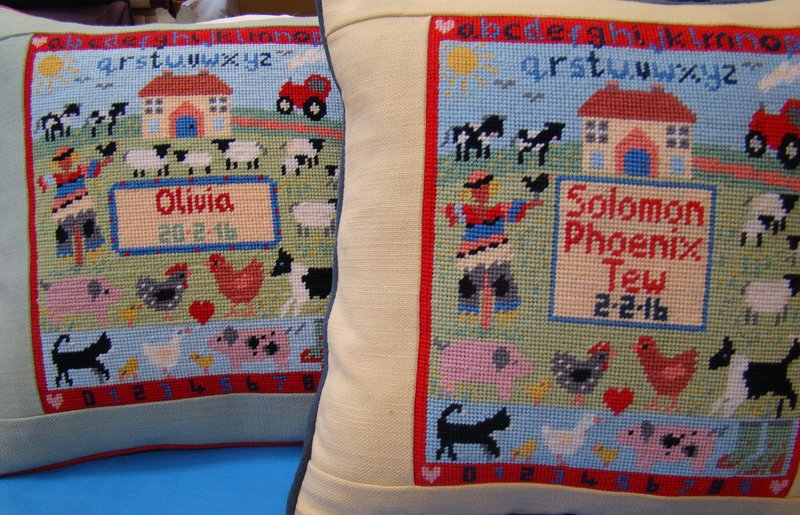 Olivia and Solomon's Farmyard tapestries